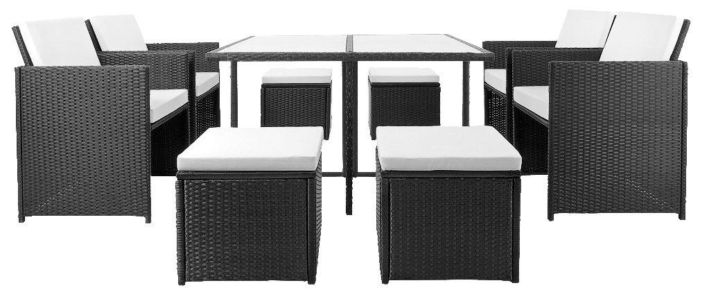 21tlg PolyRattan Sitzgarnitur Gartengarnitur Lounge Gartenset Sitzgruppe Essgruppe Gartenmöbel Rattan