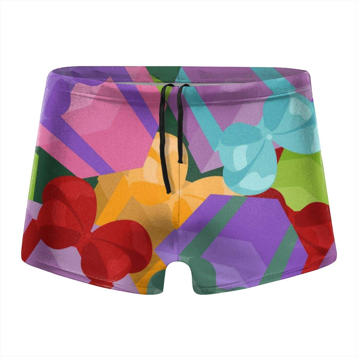 349tg1u Bright Colorful Gifts Mens Swim Trunks Shorts Athletic Swimwear Briefs Boardshorts