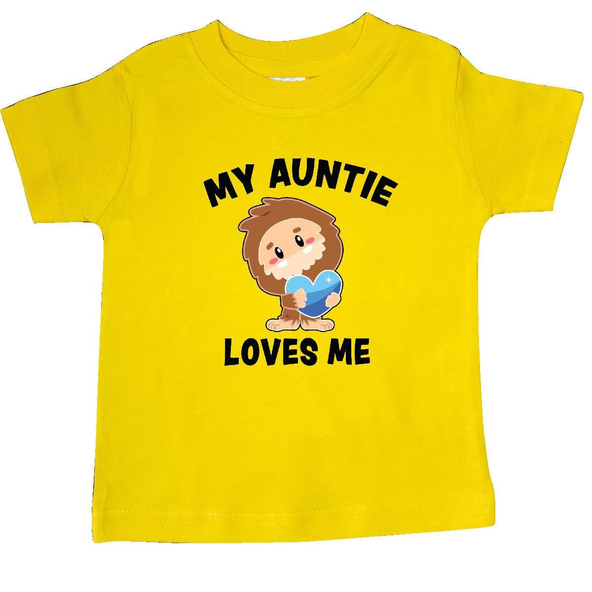 inktastic Cute Bigfoot My Auntie Loves Me Baby T-Shirt
