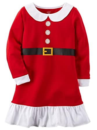 carters big girls long sleeve microfleece christmas nightgown 8 10