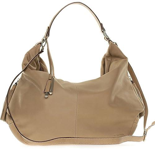 newest 6c04b e650f Cromia Italian Made Beige Leather Large Slouchy Hobo Bag ...