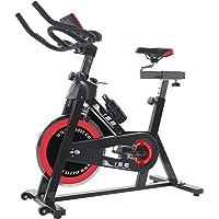 ISE Indoor Cycle Ergometer Heimtrainer mit Pulsmesser,LCD Anzeige,Armauflage,Pulsgurt&gepolsterte,18kg Schwungrad,Fitnessbike Speedbike mit flüsterleise Riemenantrieb-Fahrrad Ergometer 150Kg
