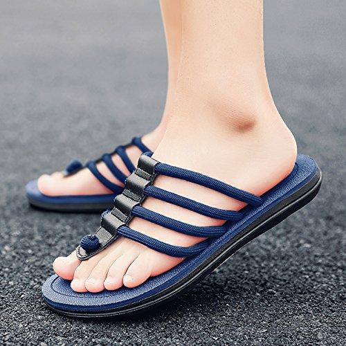 Flip Sandalias Hombres Hombres HY Individuales De Coreana Flops blue Antideslizante Playa Versión De De 3005 Verano Zapatillas Sandals La De SqXdFYwF