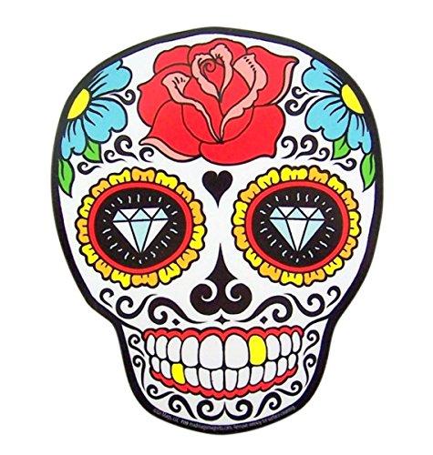 (Mad Mags Sugar Senorita Rose Skull Skeleton Magnet Decoration for Car, Office, Locker, Whiteboard, or Refrigerator (Senorita)