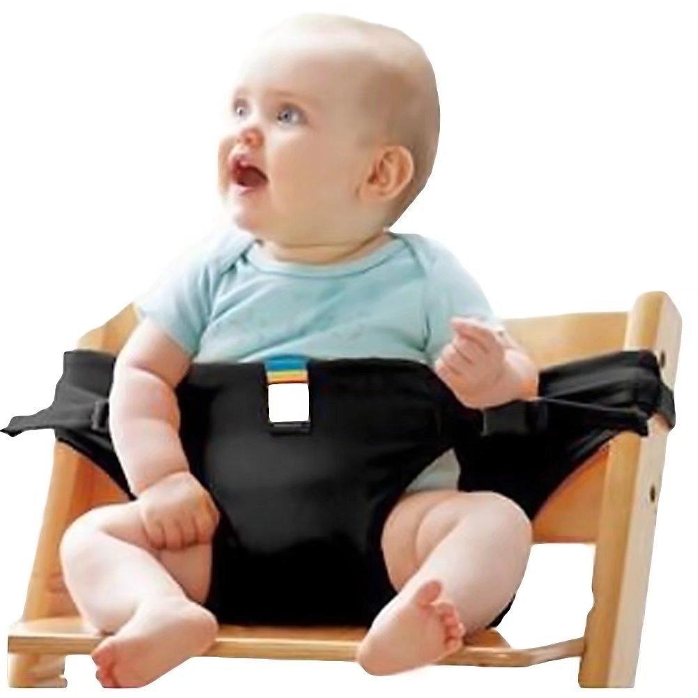 Di& Mi baby tragbar Stuhl-Sitzgurt Esszimmerstuhl Sicherheitsgurt Hochstuhl (schwarz)