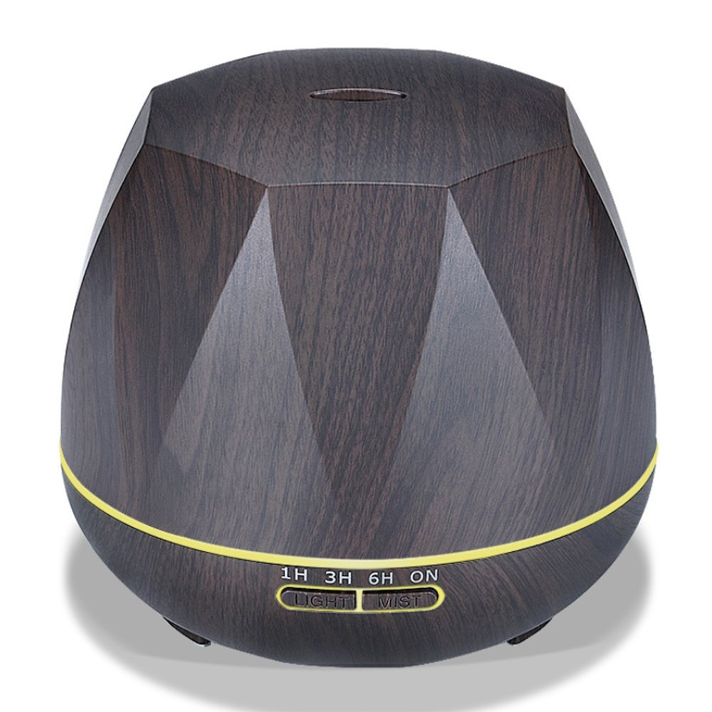 Nclon Aroma diffuser Humidifiers, Wood grain Aromatherapy essential oil diffuser Low noise humidifier Cool mist humidifiers Ultrasonic air humidifiers-A