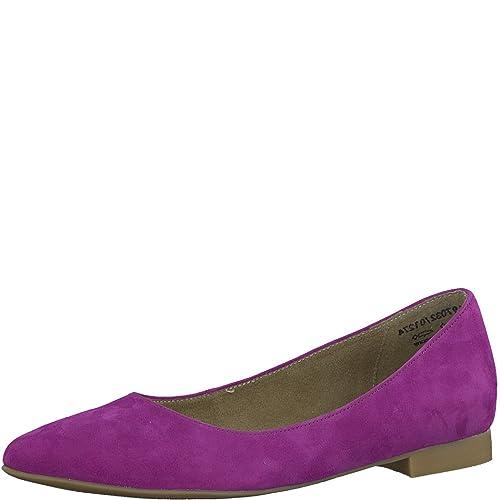 Violet Ballet Flats by Tamaris