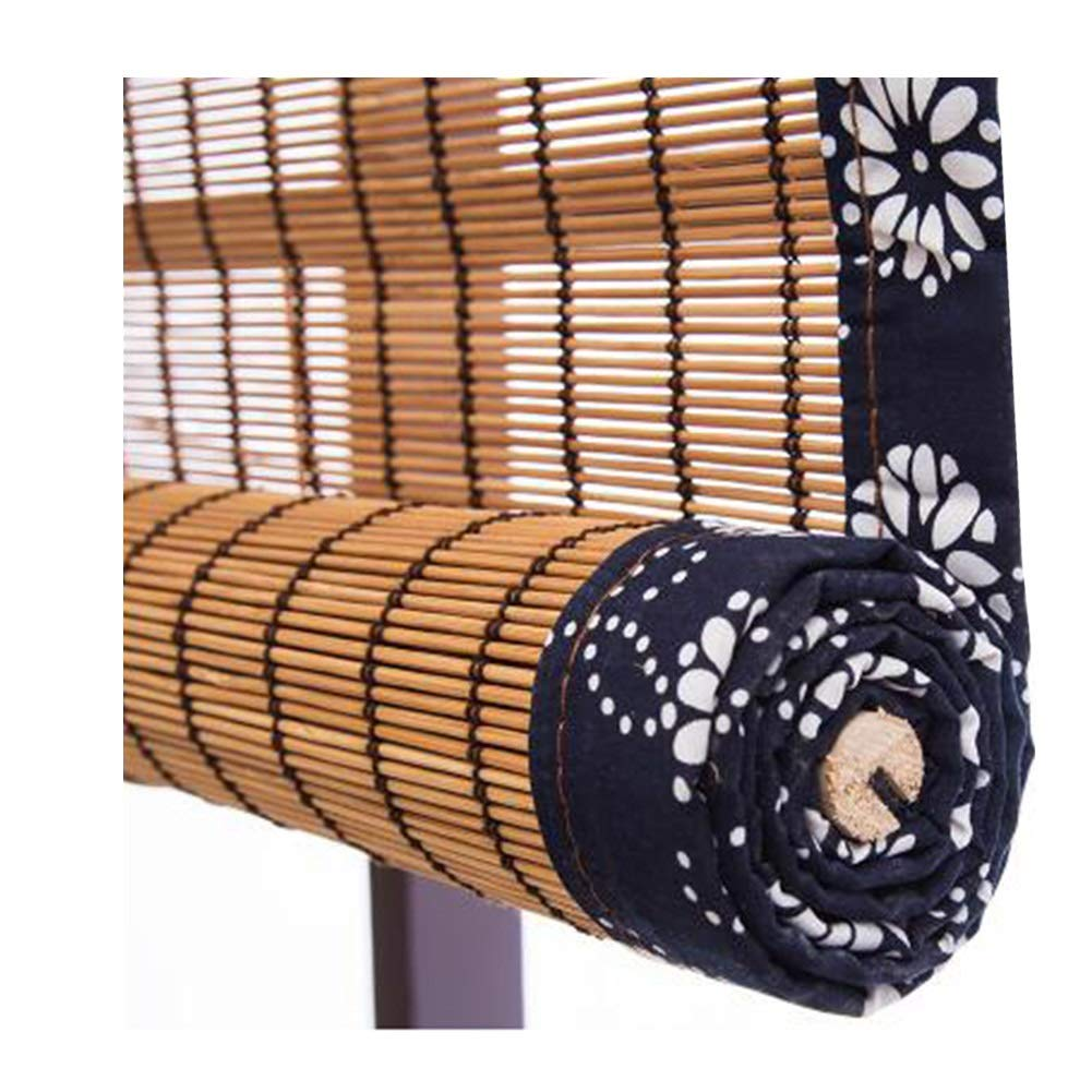 CHAXIA 竹ロールスクリーン竹はウィンドウシェードを竹すだれ竹製カーテン 日焼け止め サンバイザー 通気性 バルコニー 廊下 カーテン ラップエッジ 丈夫 3色、 マルチサイズ、カスタマイズ可能 (色 : C, サイズ さいず : 160x230cm)   B07SBMQ6GR
