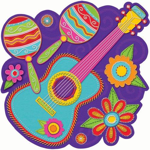 Cinco De Mayo Face Paint (Cinco De Mayo Banjo With Maracas Cutout Party Decoration | Laminated)