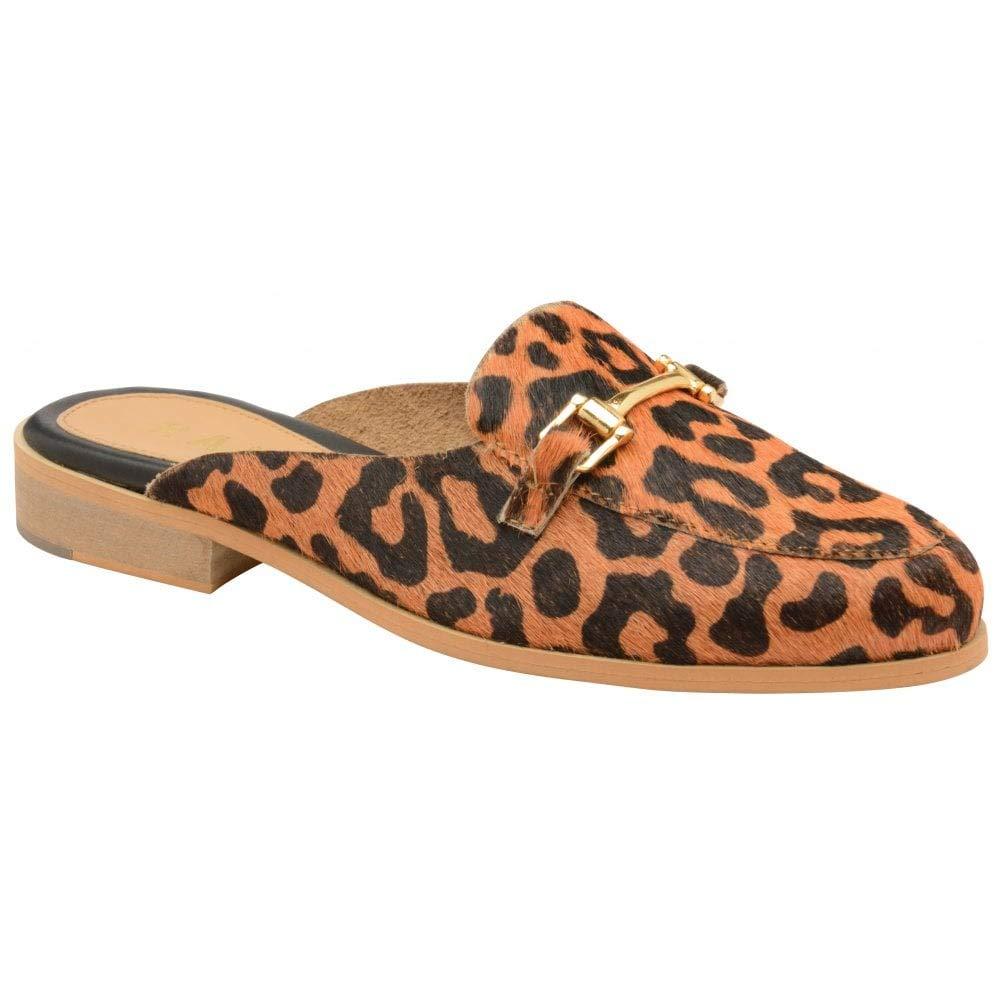 Ravel Leopard Brooker Mocassins Dos Nu en Daim