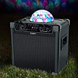 ION Audio Party Rocker Plus | Rechargeable Speaker with Spinning Party Lights and Karaoke Effects (50W)