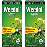 2 x Weedol / Verdone Extra Lawn Weedkiller Kills Weeds 500ml Treats 333m2 Garden New (Total 1L 1 Litre)