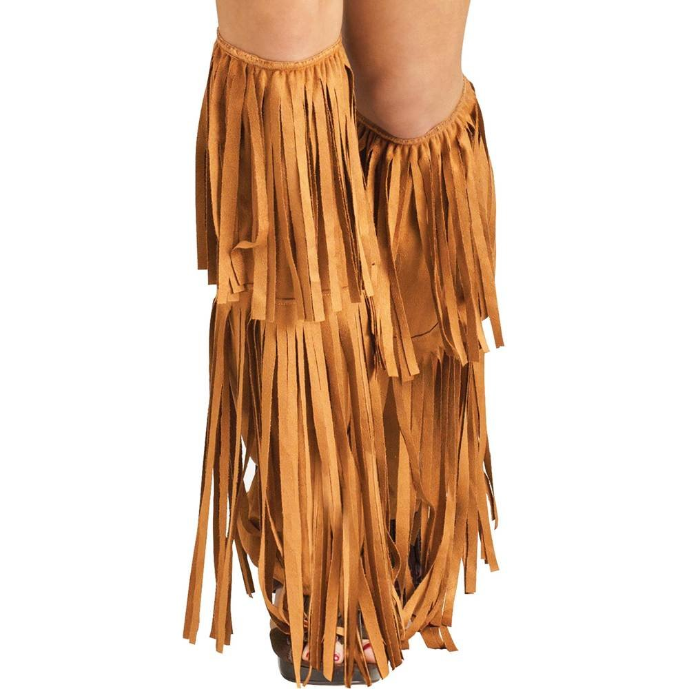 Vintage Boots, Granny Boots, Retro Boots Hippie Fringe Leg Warmers - Adult Std. $15.45 AT vintagedancer.com