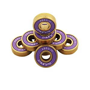Dark Wolf Titanium ABEC 11 Skateboard Bearings