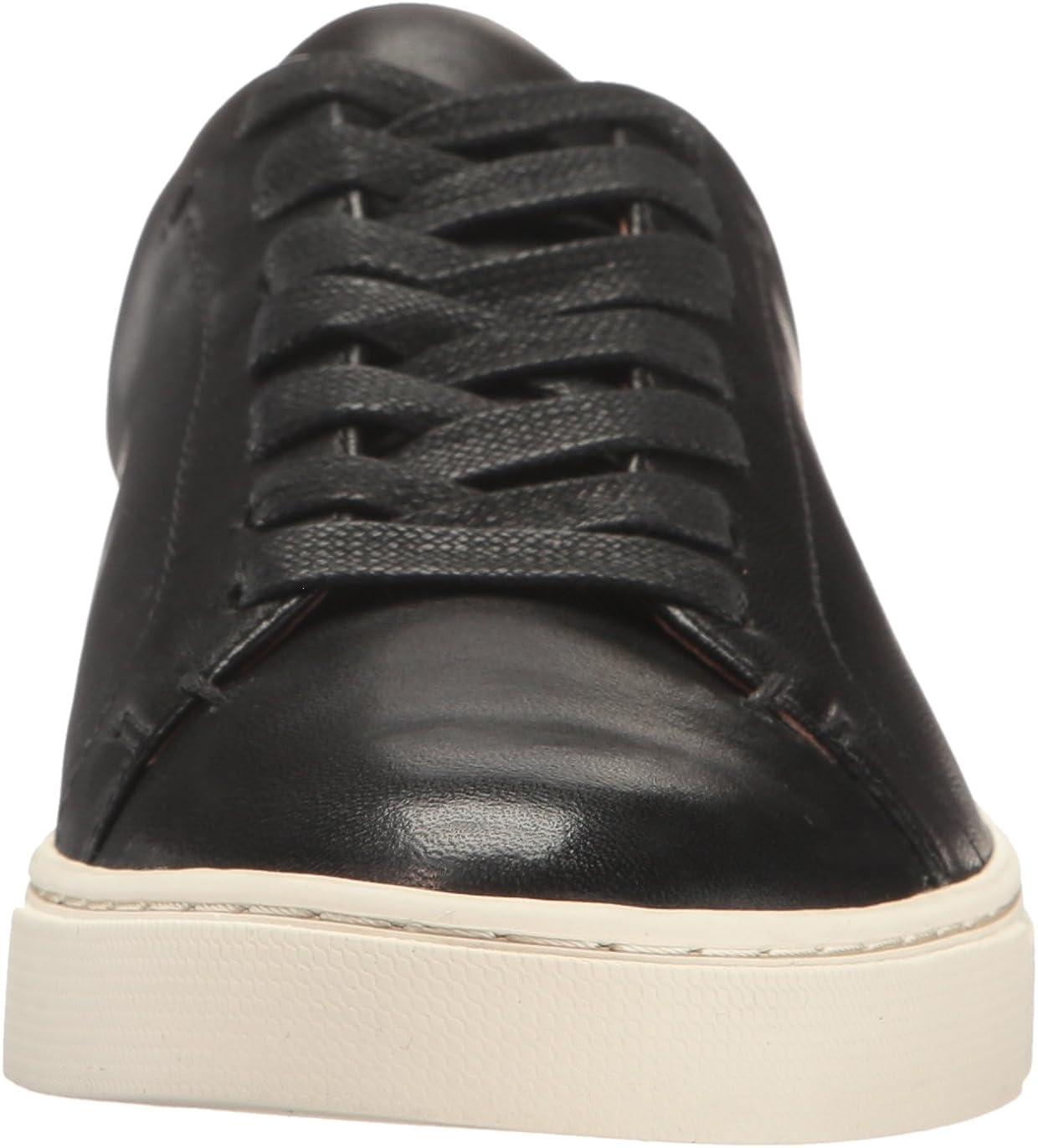 FRYE Women's Ivy Low Lace Fashion Sneaker Black Soft Nappa Lamb
