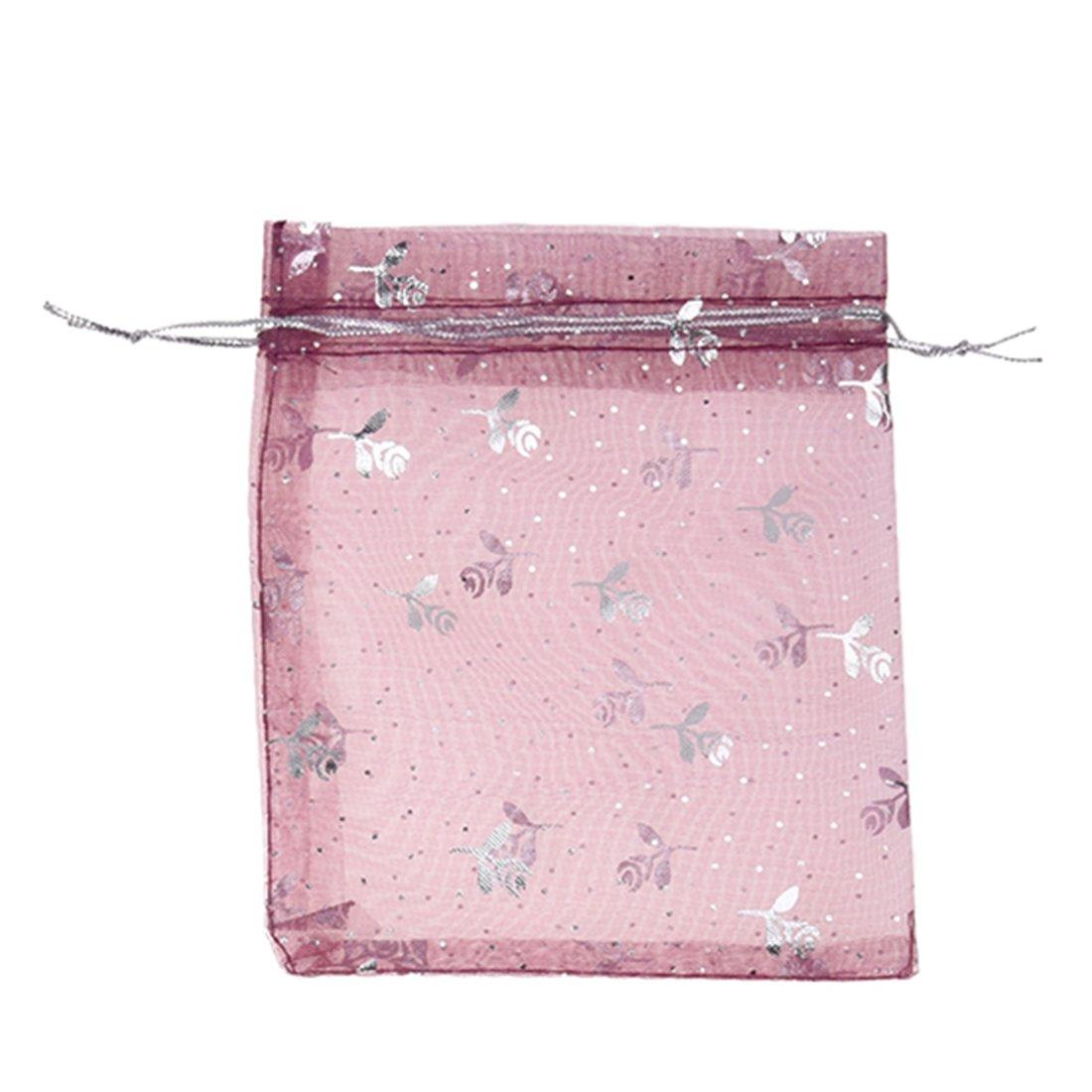 SODIAL(R) 100 mezclo la bolsa del Organza para la joyeria, regalo de la boda 13cm X 10cm 027688