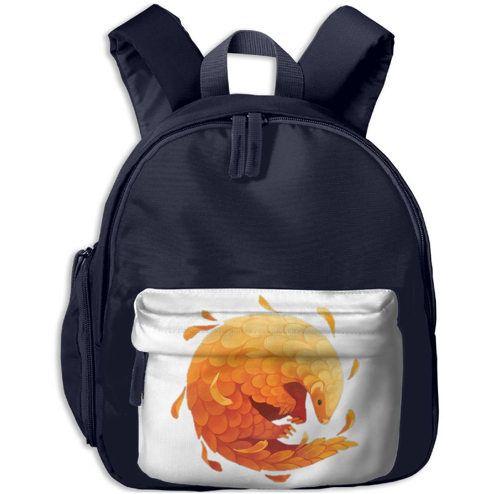 Kid's Cute Cute Cartoon Orange Panguolin Design School Bags/Packbags For Boys And Girls