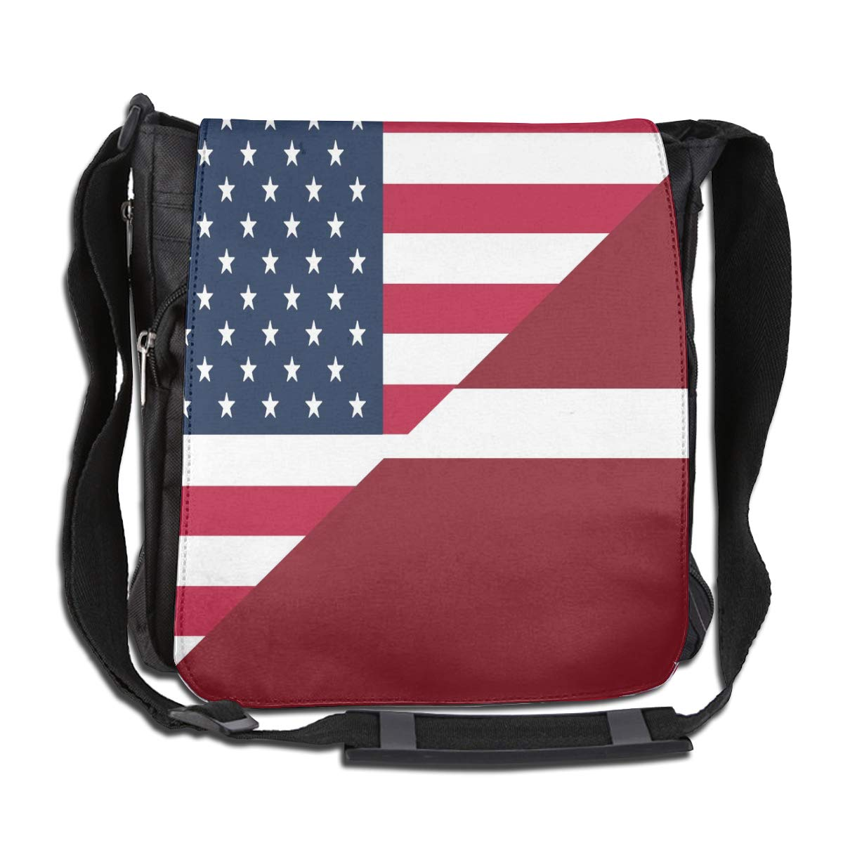 Unisex Stylish Satchel Messenger Bags American And Latvia Flag Crossbody Shoulder Bag Traveling Bag For School//Work//Trips