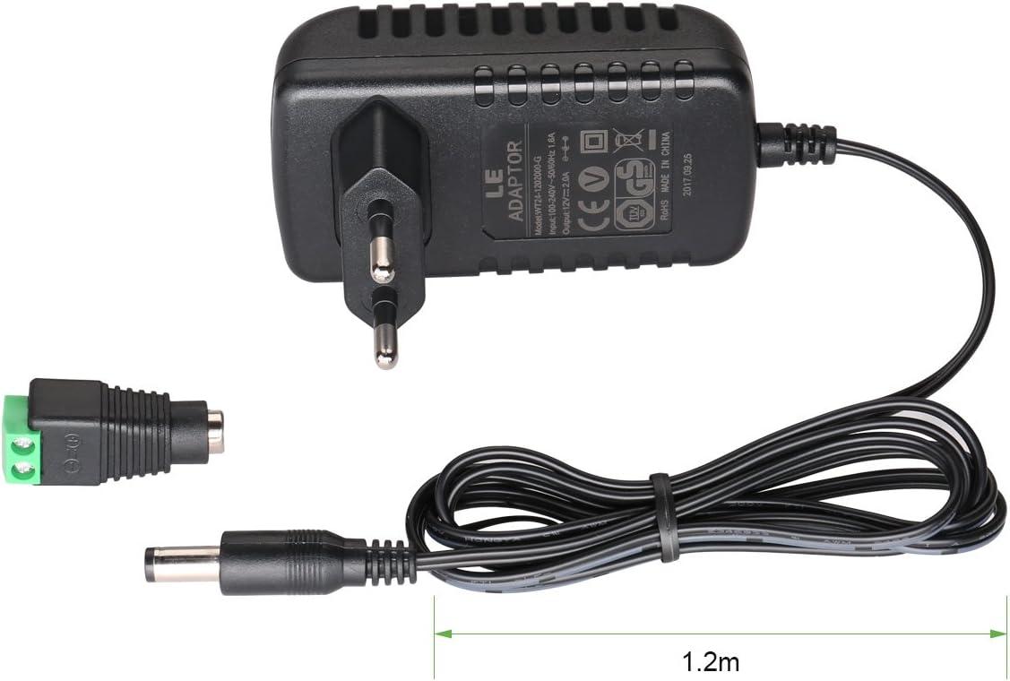 Ac Dc 12v 2a 110-240V Netzteil Adapter Ladegerät 3528//5050 Led Stecker US EU ZUE