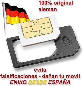MicroSIM Adaptador Original fabricado en Alemania para Tarjetas MicroSIM para utilizar la Micro SIM como una SIM normal: Amazon.es: Electrónica