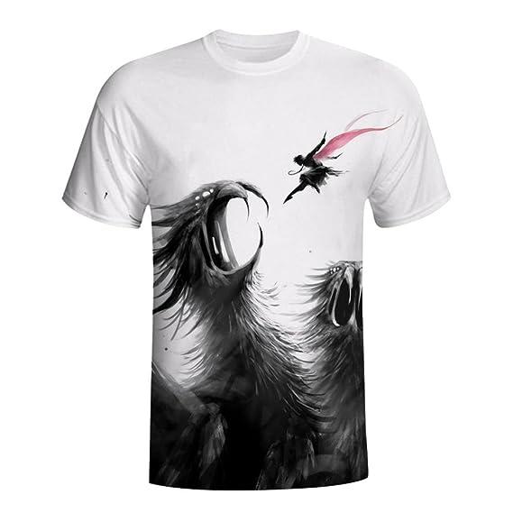 Naturazy-Camiseta Camisas De Hombre Chicos Manga Tendencia Impresión 3D Corta Verano Classic Kitty Sky Camiseta para Hombre Top tee Blusa: Amazon.es: Ropa y ...