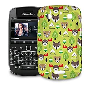 Phone Case For BlackBerry Bold 9900 / 9930 - Christmas Forest Animals Hardshell Premium