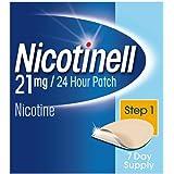 Nicotinell Stop Smoking Aid 24 hour 7 days Nicotine Patches, 21 mg, Step 1