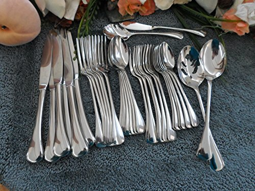 Oneida 18/8 USA Stainless GLOSSY CABANA 34pc Set for 6 Excellent Used