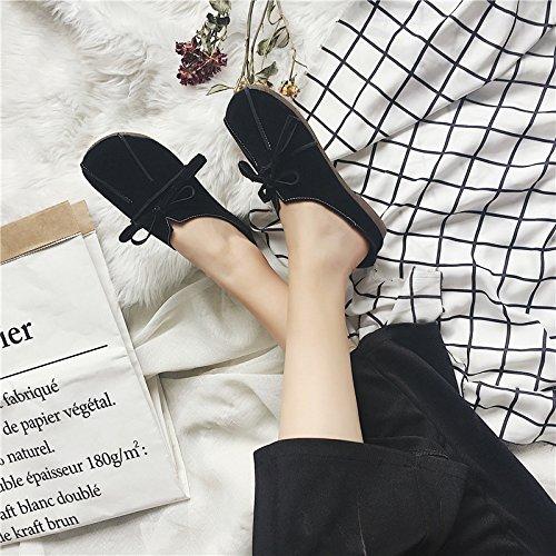 Mocassino Comodo Da Donna, Blazer, Scarpe In Morbida Pelle Nera