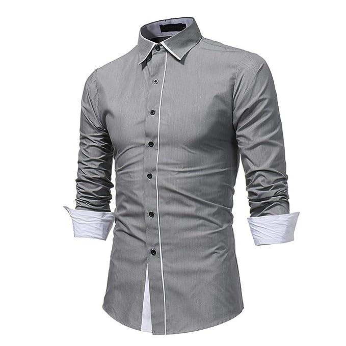 Winwintom -Camisas Hombre Camisa De Hombre, Slim Fit Manga Larga, Camisas Hombre Manga Corta Talla Grande, M L XL 2XL, Suave CóModo Transpirable: Amazon.es: ...