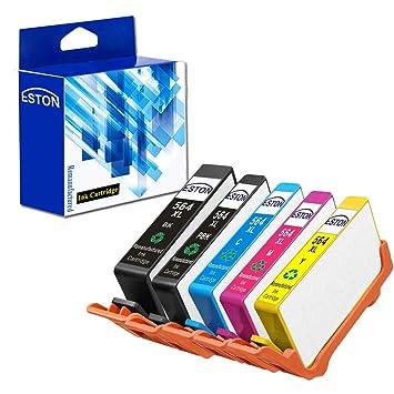Amazon.com: Eston 5 Pack High Yield 564 x l Cartucho de ...