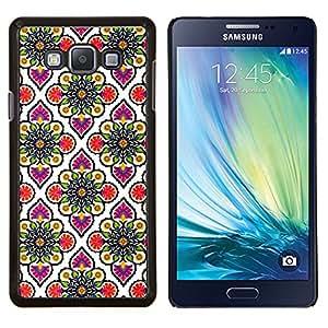 Stuss Case / Funda Carcasa protectora - Modelo del papel pintado Rosa Blanco - Samsung Galaxy A7 ( A7000 )