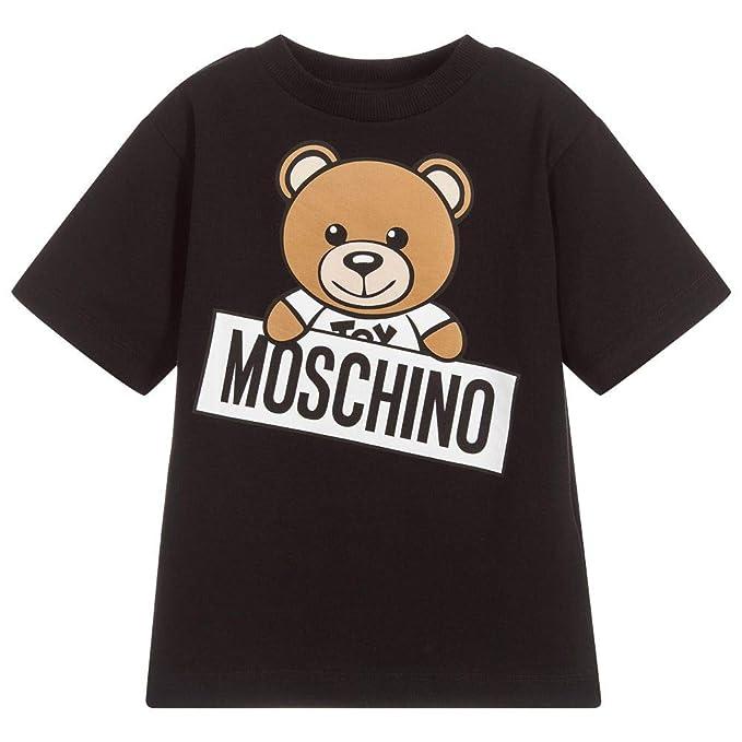 a430afe6 Moschino Maxi T-Shirt Nera con Orsacchiotto 6 A Nero: Amazon.co.uk: Clothing