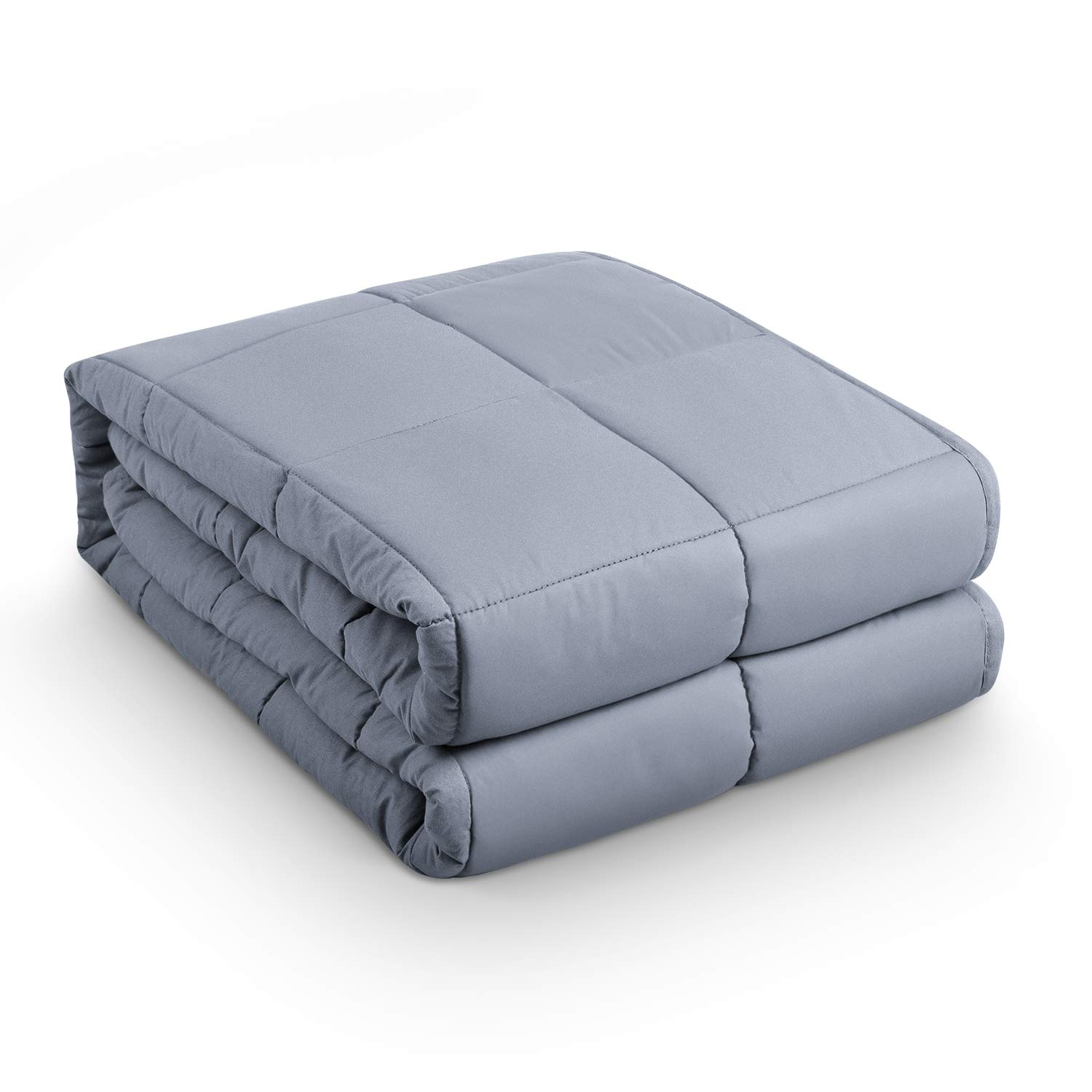BEASEN Weighted Blanket (15 lbs,60''x80'') for Adult 120-180 lbs Individual,|Natural Calm Sleep Aid| 100% Cotton with Hypoallergenic Polyester Padding, Glass Beads,Grey by BEASEN