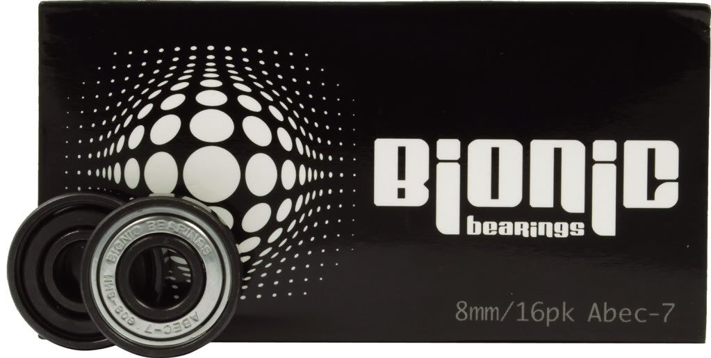 Bionic Bearings 8mm Bearings Bionic ABEC-7 Bearings 16 Pack Atom
