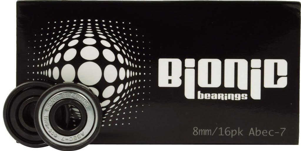 Bionic Bearings - Bionic ABEC-7 Bearings - 8mm Bearings - 16 Pack