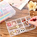 HOYOFO Plastic Adjustable Storage Boxes Jewelry Medical Pill Art Craft Organizer Cases with Removable Dividers