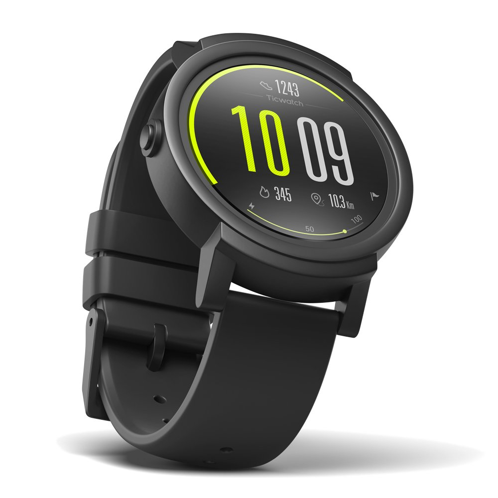 Ticwatch E most comfortable Smartwatch-Shadow,1.4 inch OLED Display, Android Wear 2.0,Compatible with iOS and Android, Google Assistant by Ticwatch