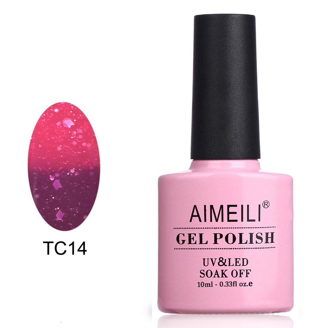 AIMEILI Soak Off UV LED Temperature Color Changing Chameleon Gel Nail Polish - Violet Villain (TC14) 10ml