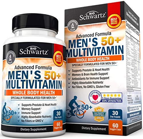 Multivitamin for Men 50 and Over -Supplement for Health Support – Designed for Whole Body Health -30 Day Supply – 60…