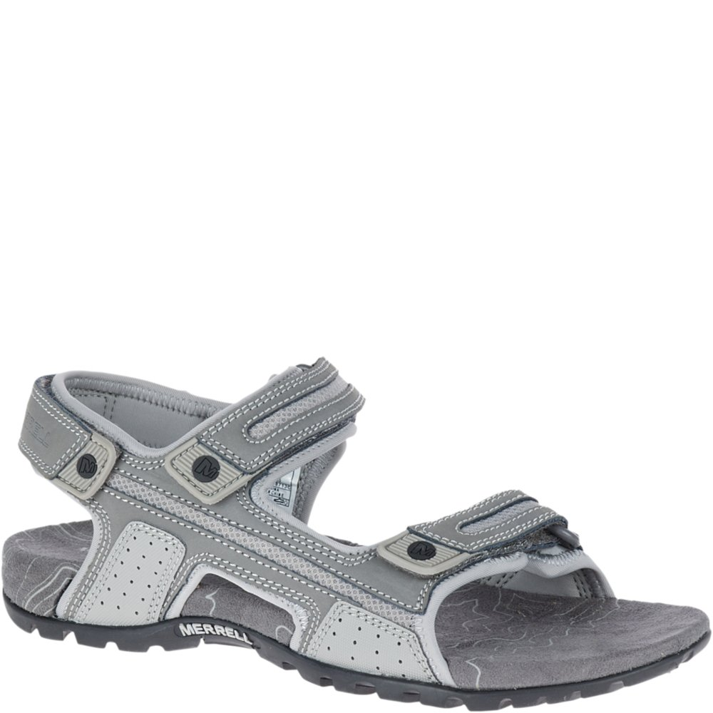 Merrell Men's Sandspur Oak Sandal, Grey, 11 Medium US