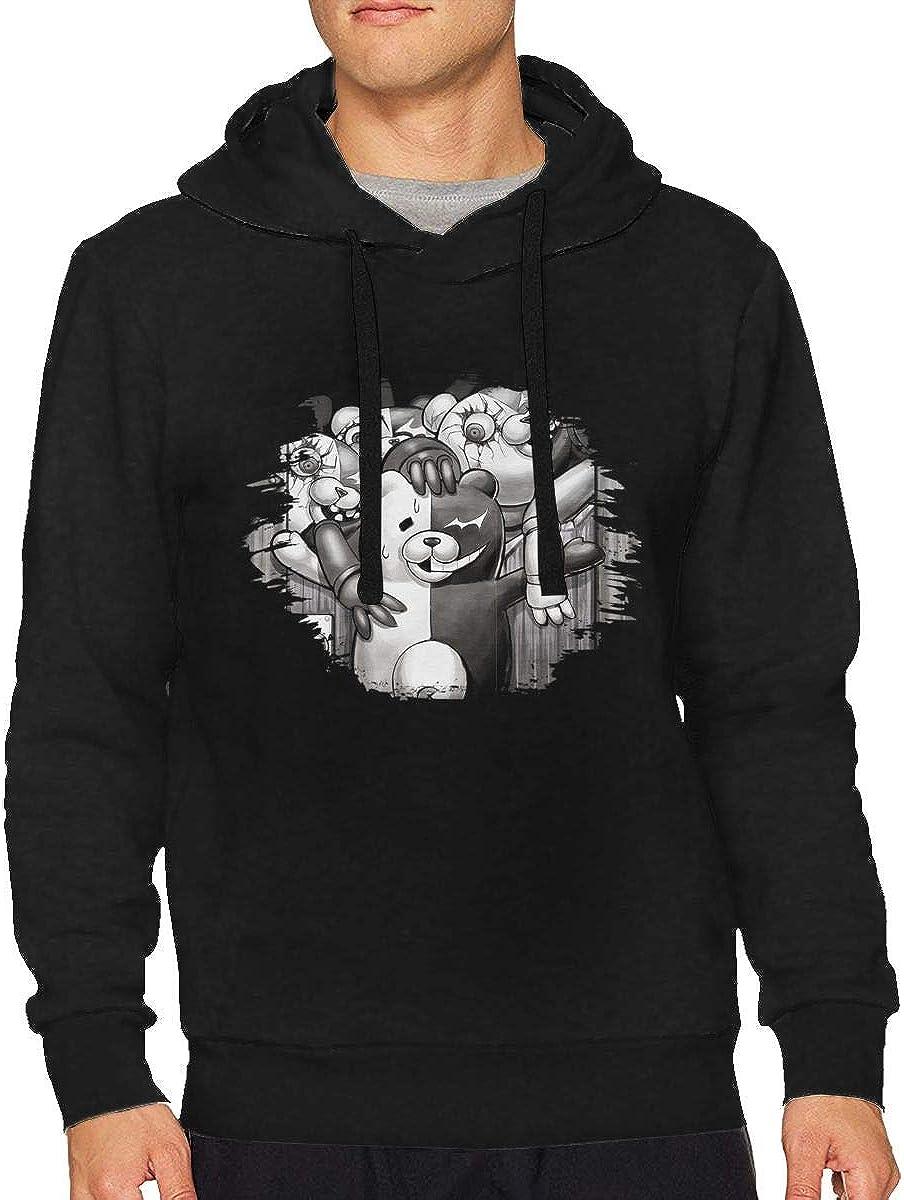 BilliePhillips Man Danganronpa Monokuma Comfort Drawstring Short Sleeve Sweatshirt