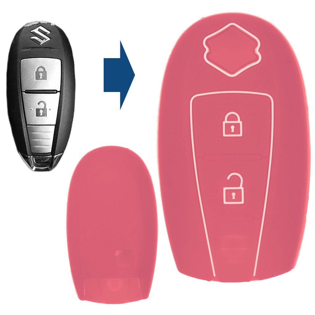 Carbon Soft Case Cover Protettiva Chiave KEYLESS per Suzuki Swift Vitara SX4 S-Cross Baleno Jimny Ignis