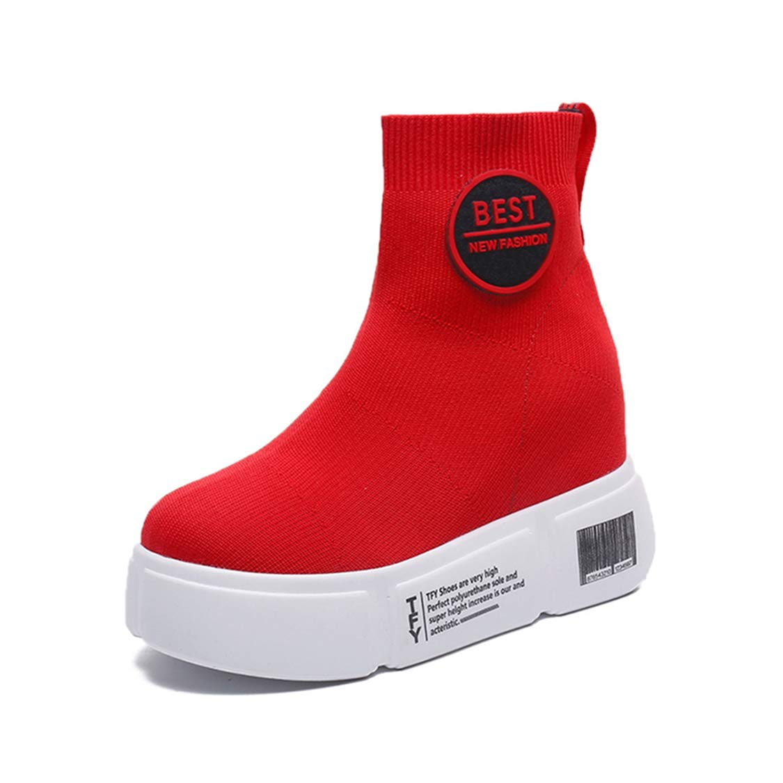 f2564cc7073c0 Amazon.com: DOSOMI Womens Wedge Sneakers Mesh Boot Hidden Increasing ...