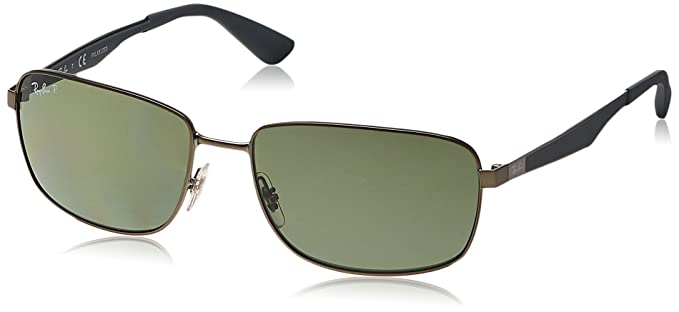 58123eb28e Ray-Ban METAL MAN SUNGLASS - MATTE GUNMETAL Frame DARK GREEN POLAR Lenses  61mm Polarized