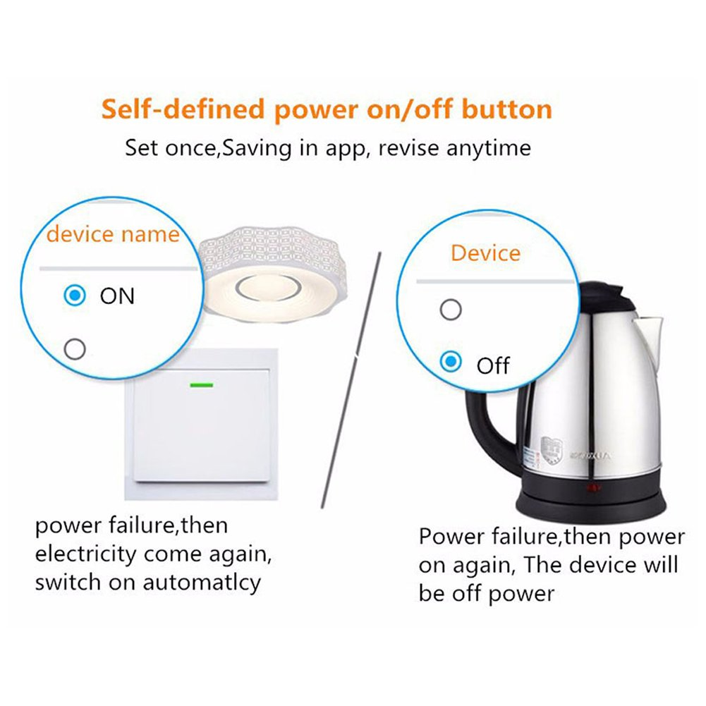 Sonoff Wifi Switch 8 Pack Alexa Switches Wireless Remote Control Circuit For Turn On Off Any Home Appliances Electrical Household Compatible With Diy Your Via Iphone Android