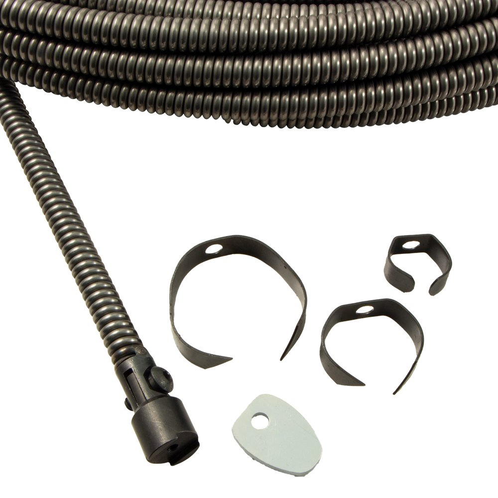 3/8'' Drain Cable x 75' with 5 Piece Blade Cutting Kit