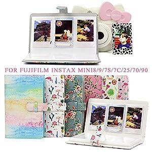96 Pockets PU Leather Instant Photo Album Picture Case for Fujifilm Instax Mini8/9/7s/7C/25/70/90 3 inch Mini Film Photo Album Ksruee