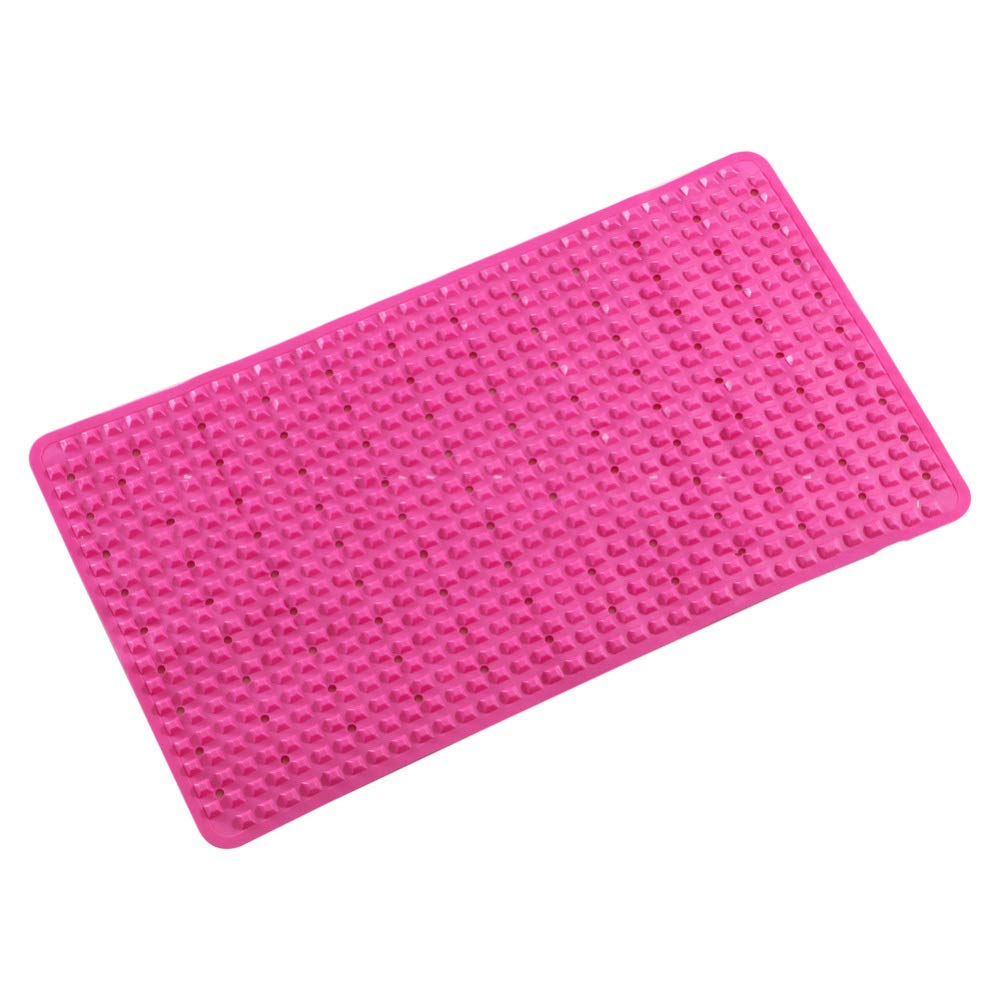 PLLP Bathroom Mat, Household Bathroom Shower Room, Massage Bathtub Mat, Floor Mat, Bathroom Carpet,Pink,7140