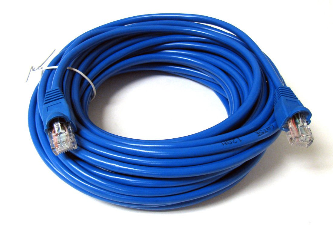 FYL 25FT 25 FT RJ45 CAT5 CAT 5 HIGH SPEED ETHERNET LAN NETWORK BLUE PATCH CABLE by FYL